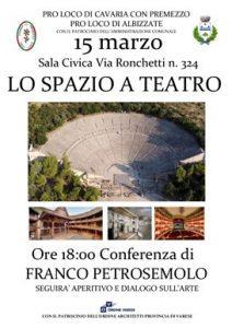 Lo spazio a teatro @ Sala Civica