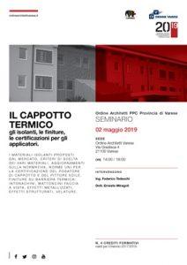 Il cappotto termico @ Ordine Architetti PPC Varese