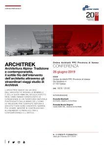 Architrek, architettura alpina @ Ordine Architetti PPC