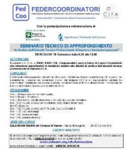 La Verifica dell'Idoneità Tecnico Professionale di Imprese e lavoratori autonomi @ Sala Montanari
