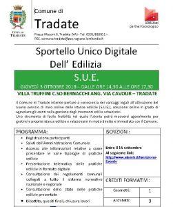 Sportello Unico Digitale @ Villa Truffini