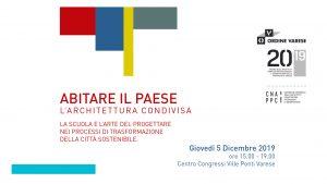 Abitare il Paese @ Centro Congressi Ville Ponti, Varese