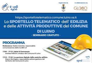 """Comune di Luino """"Lo sportello telematico dell'edilizia"""" @ Webinar sincrono"""