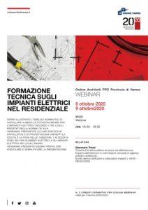 Formazione tecnica sugli impianti elettrici nel residenziale - prima parte @ Webinar sincrono