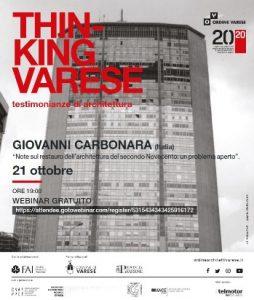 Giovanni Carbonara @ Webinair sincrono