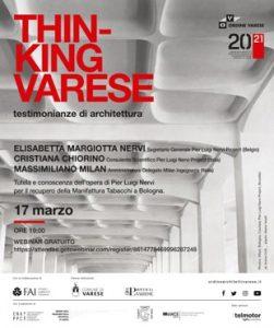 Thinking Varese - Pier Luigi Nervi (Italia) @ Webinair sincrono