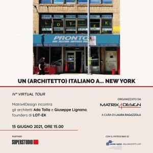 Un (architetto) italiano a… New York @ Webinair sincrono