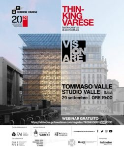 Thinking Varese - Tommaso Valle @ Webinair sincrono