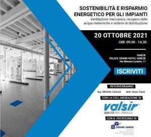 Sostenibilità e risparmio energetico per gli impianti @ Palace Grand Hotel Varese
