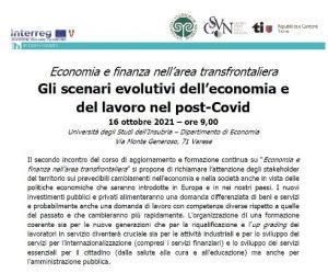 Gli scenari evolutivi dell'economia e del lavoro nel post-Covid @ Università degli Studi dell'Insubria
