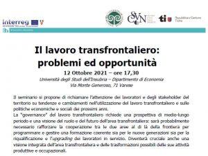 Il lavoro transfrontaliero: problemi ed opportunità @ Università degli Studi dell'Insubria